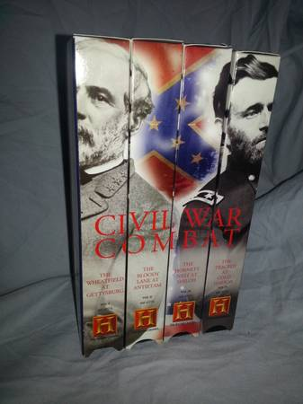 Civil war combat collection VHS -   x0024 8  plain dealing