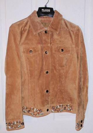 Wilson Leather Embroidered Suede Jacket - $65 (Haughton)
