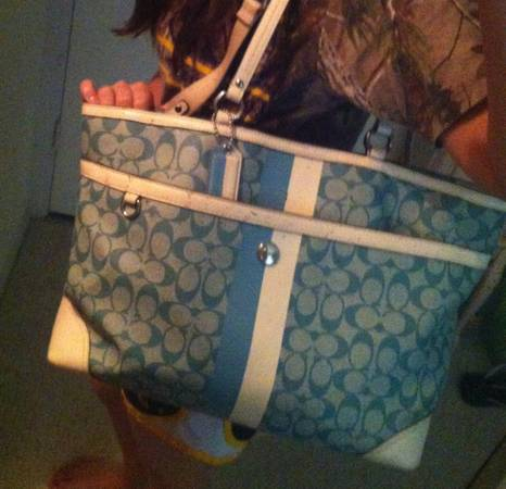 BABY BLUE AUTHENTIC COACH DIAPER BAG - $75