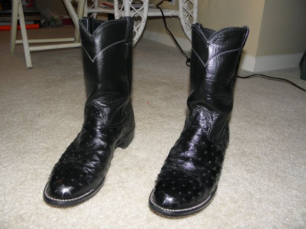 Larry Mahan Ostrich Roper Boots (Mens size 10) - $65 (broadmoor)