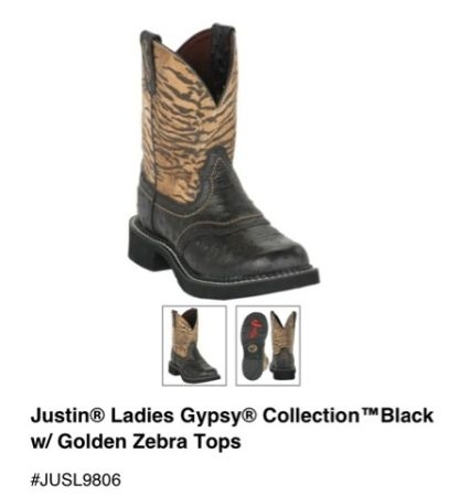 Justin boots Gypsy Collection - $75 (Bossier city )