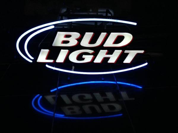 Bud Light neon sign -   x0024 100  Bossier City  LA