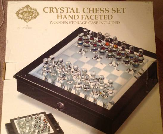 Godinger crystal chess set - $125 (shreve city close to walmart)