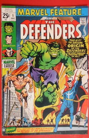 Marvel Feature  1 The Defenders  Marvel  1971  -   x0024 300