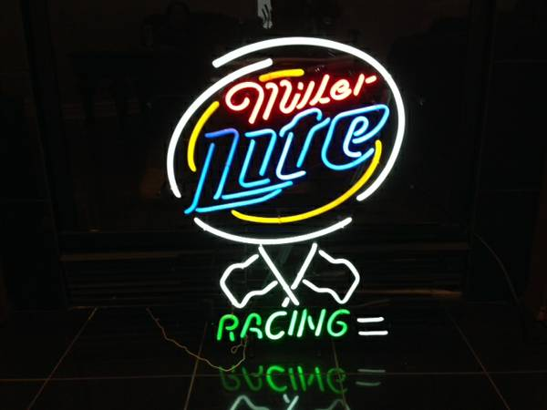 Miller Lite racing neon sign -   x0024 175  Bossier City