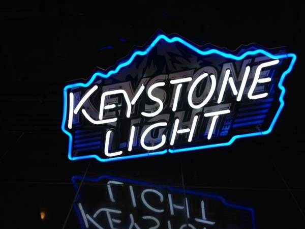 Keystone Light neon sign for sale -   x0024 100  Bossier City