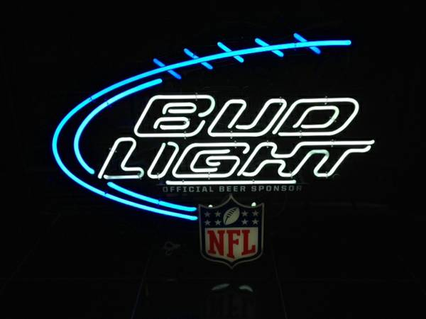 Bud Light neon sign NFL -   x0024 200  Bossier City