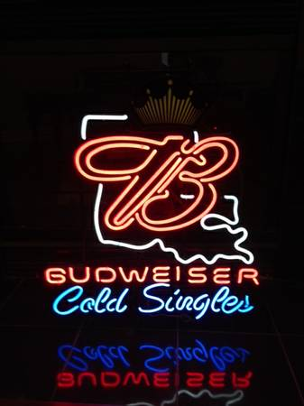 Budweiser neon sign for sale Large -   x0024 200  bossier city