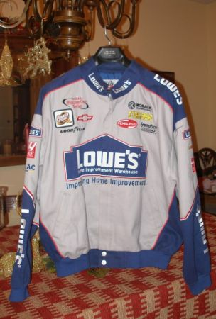 Autographed Lowes Nascar Jacket signed by Jimmie Johnson - $275 (Shreveport - Broadmoor)