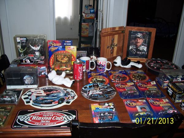 Dale Earnhardt Sr. and Jr. collectables (Blanchard)