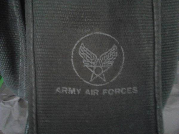 Army Air Forces WWII Bomber Pilots Canvas Bag Letters-flew on D-day - $1