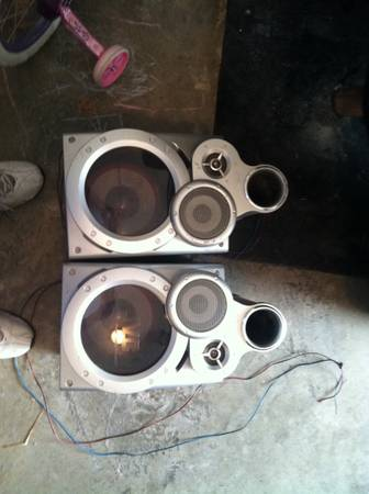 JVC giga tube stereo speakers - x002430 (bossier city)