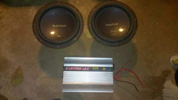 (2) 12 rockford fosgate p3 and earthquake - $250