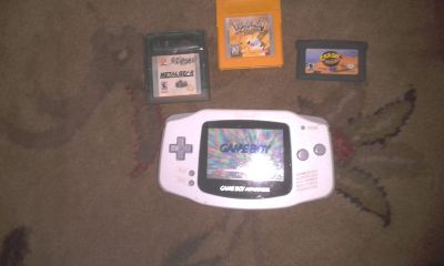 Game Boy Advance with 3 games - $20 (SHREVEPORT)