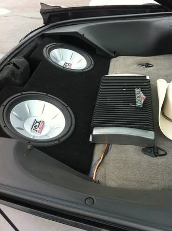 2- 12 MTX thunder6000 subs with kicker  and box - $200 (Bossier city)