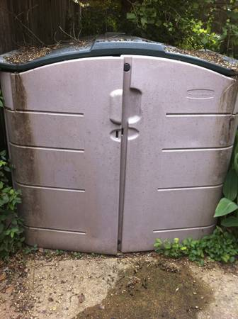 Rubbermaid Horizontal Slide Lid Storage Shed, 92 Cubic Feet - $325 (Shreveport, La)