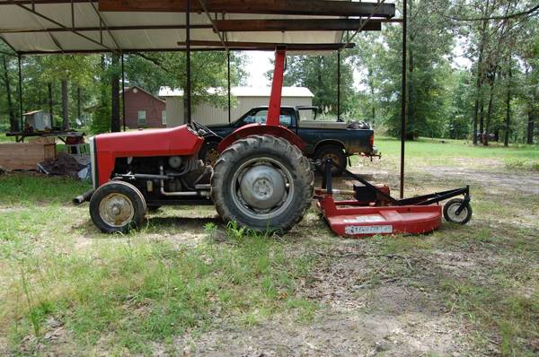 Massey-Ferguson Tractor with bush hog - $3000