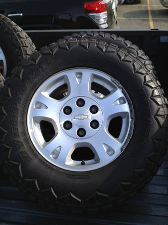 Chevy wheels and aggressive tires 6 lug almost new - $1150 (Shreveport)
