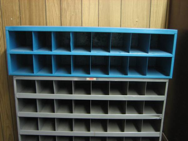 Pre-Engineered 35 Wide Steel Bin Shelving, 16 Bins - $25 (East TX)