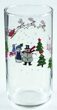 8 Christmas Pfaltzgraff Snow Village rare 16 oz glasses - $15 (Shreveport)
