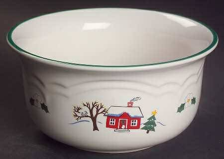 Pfaltzgraff Snow Village 5.5 Everything Bowl (6) - $6 (Shreveport)