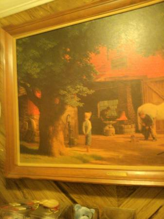 large HORSE AND BUGGY DAYS PICTURE (keithville)