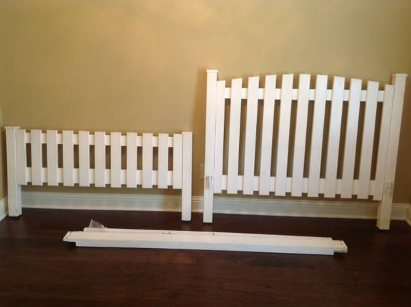 Full (Double) size Picket Fence custom headboard and footboard  - $100 (Shreveport )
