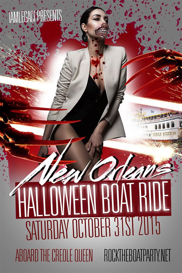 Rock The Boat 2015 New Orleans Halloween Boat Ride Party