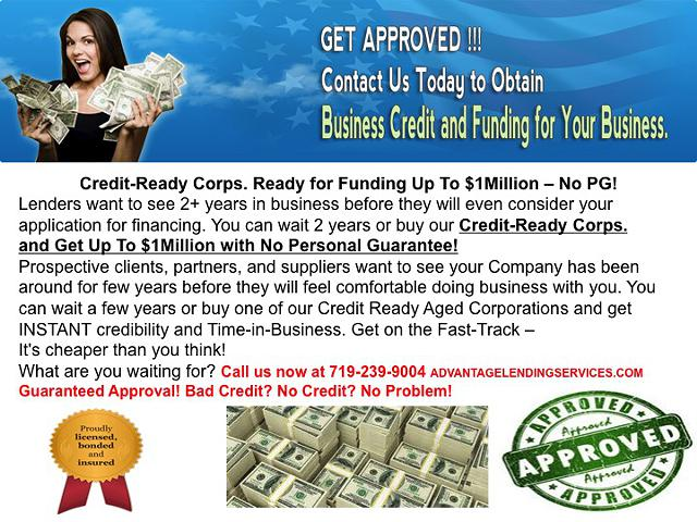 Funding  Credit Sweep  CPNs  Tradelines  Shelf Corps