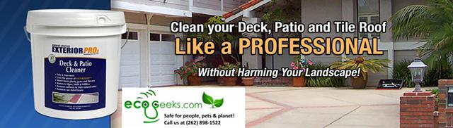 Exterior Cleaners Go Green