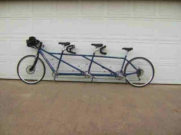 3 seated tandem bicycle - $1000 (Broken Bow OK)