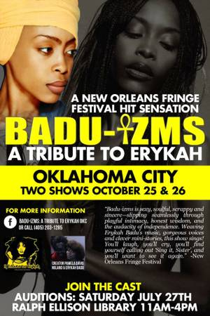 Erykah Badu Musical  Auditions   Ralph Ellison Library