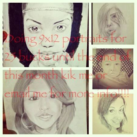 9x12 portraits  25 until the end of the moth  Bossier city