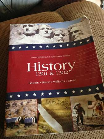 TJC history 1301 and 1302 textbook - $20 (Tyler TX)