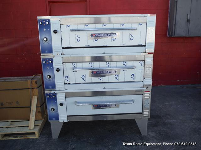 $13,950, New Bakers Pride Electric Triple Deck Pizza Oven with Stones, restaurant equipment