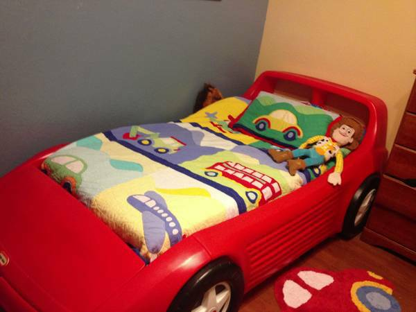 Little Tikes Twin Size Race Car Bed - $225 (Atlanta, TX)