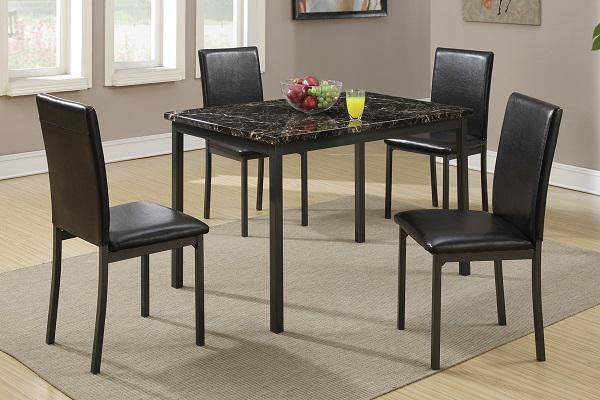 279  5 Piece Faux Marble Dining Set On Sale For Only  279--Free Delivery