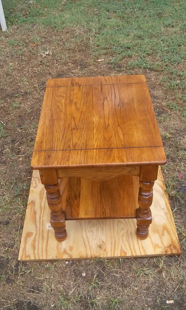 40  refurbished end table