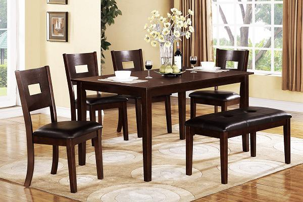 459  6 Piece Espresso Finish Dining Set On Sale-Free Delivery