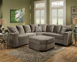 819  Contemporary Gray Microfiber Sectional Sofa-On Sale Now Free Delivery In DFW