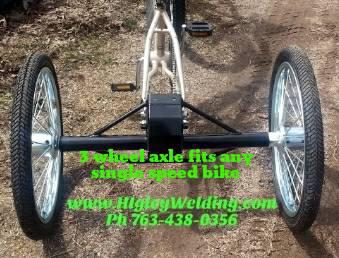 299  3 Wheel Special Needs Bicycles - Three Wheel Bike Axle Conversion Kit