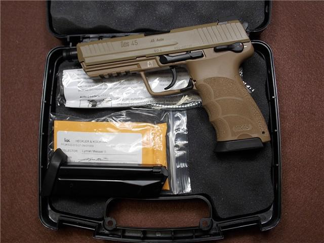 1 000  HK HK45 Tactical 45ACP FDE Scratch  Dint NEW