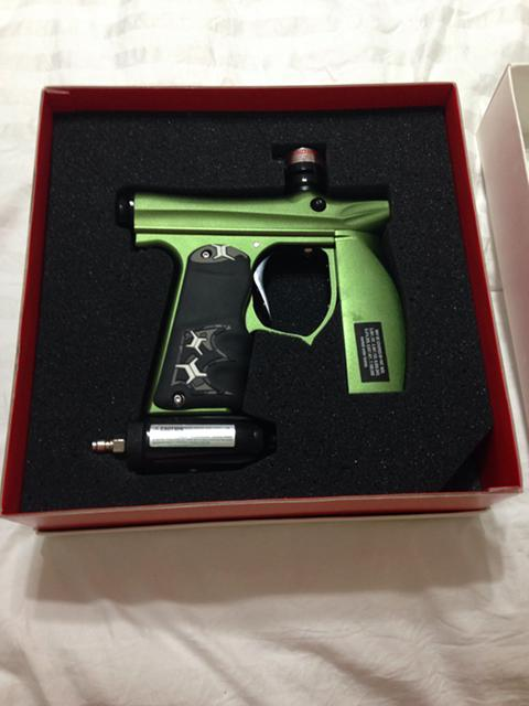 250  paintball marker - Green ANS invert mini