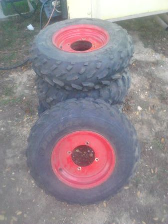 12 Polaris 4-Wheeler Rims Tires - $200 (Texarkana Area)