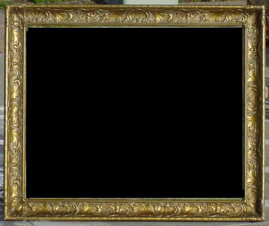 165  Antique 24x30 ORNATE GESSO FRAME painting mirror picture