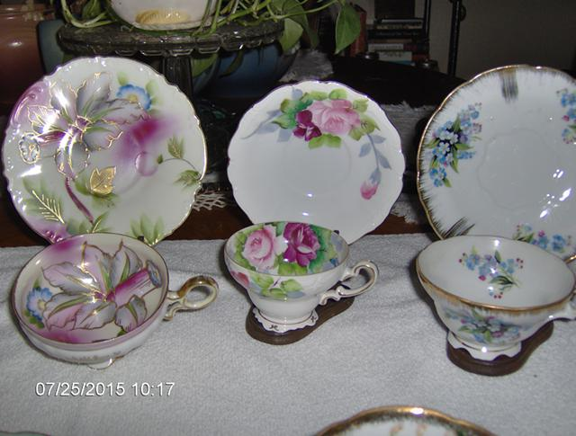 46  Vintage Trimont Hand Painted Daffodil China Cup and Saucer Occupied Japan