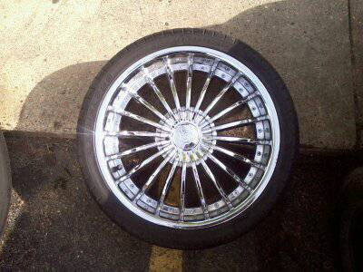 20 inch rims and tires  5 lug universal - $425