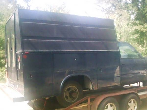 Knapheide Utility Bed W5 High Canopy roof for 1Ton Dually - $4500 (Little Rock)