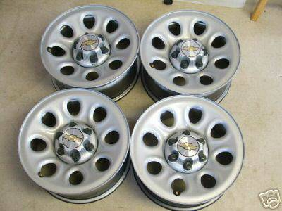 chevy gmc 6 lug 17 inch wheels tires - $100 (east texas)