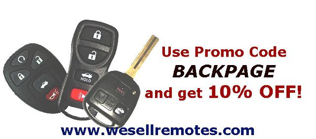 Remote Controls and Blank Keys for Cars - Domestic and Import